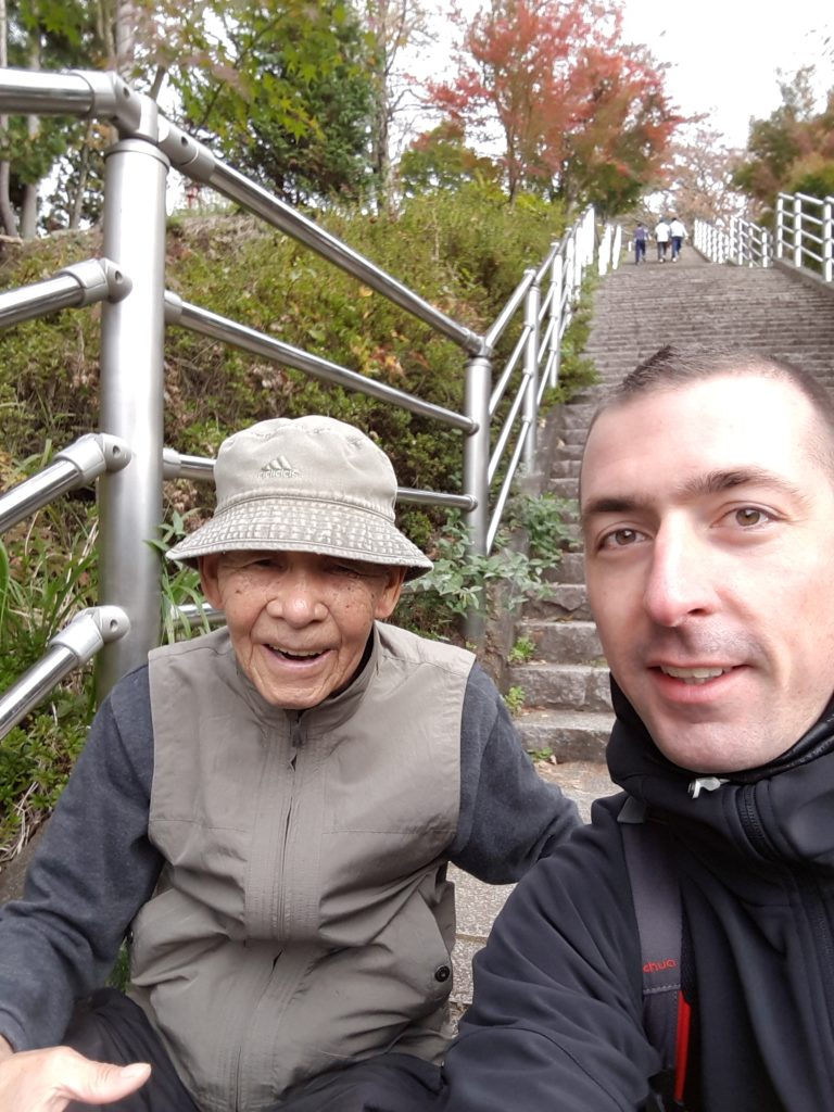 Meeting with an old Japanese man