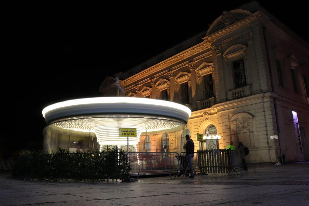 Cholet Manège  pose longue théâtre Le Balcon nuit David RAUTUREAU